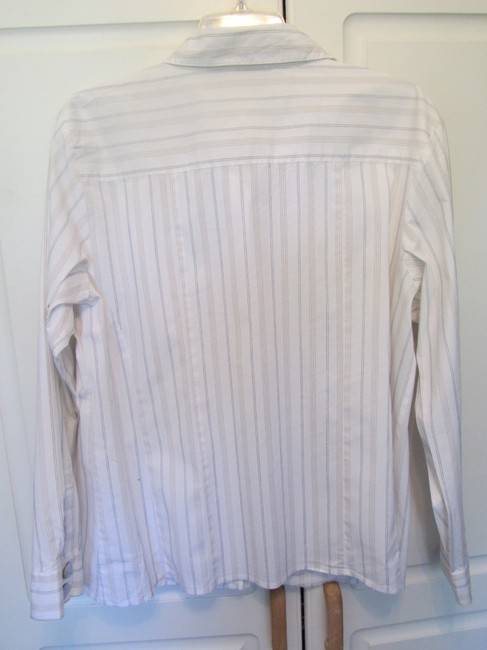 Chico's Top white with stripes