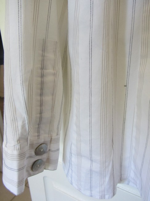 Chico's Top white with stripes Image 3