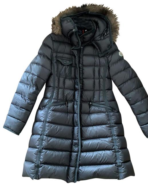 Item - Gray Puffer with Real Fur Coat Size 8 (M)