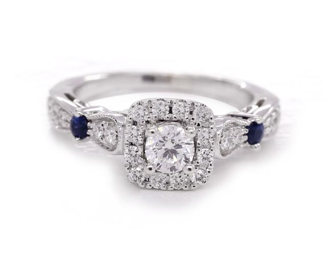 Item - White Gold Blue W Love Collection 3/4 Ct. T.w. Diamond and Sapphire Ring