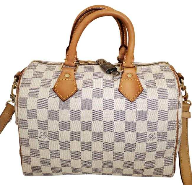 Item - Speedy Azur Bandouliere 25 Brown Grey Leather Tote