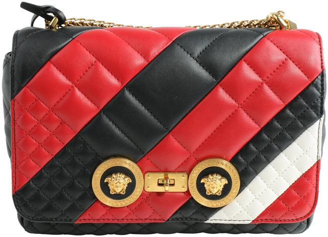 Item - Runway Icon Quilted Red/Black/White Leather Shoulder Bag