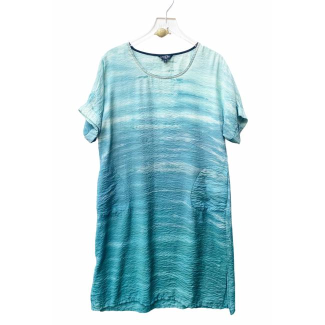 Item - Blue Dyed Mid-length Casual Maxi Dress Size 8 (M)