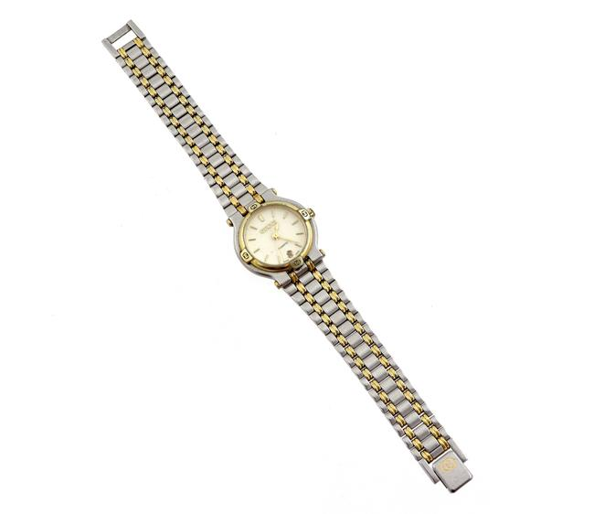 Item - Gold Silver Vintage 9000l Two-tone Face Ladies Watch
