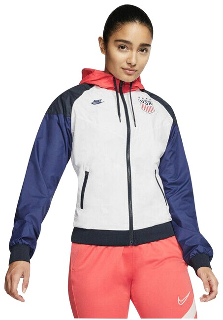 Item - White Multi Team Usa Windrunner Hooded Full Zip Xxl Activewear Outerwear Size 22 (Plus 2x)