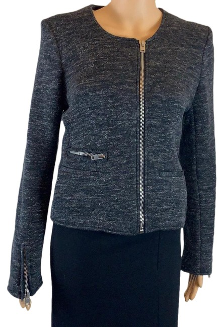 Item - Charcoal Grey Norma Moto Jacket Size 4 (S)
