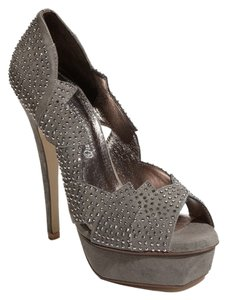 Jeffrey Campbell Studded Gray Pumps