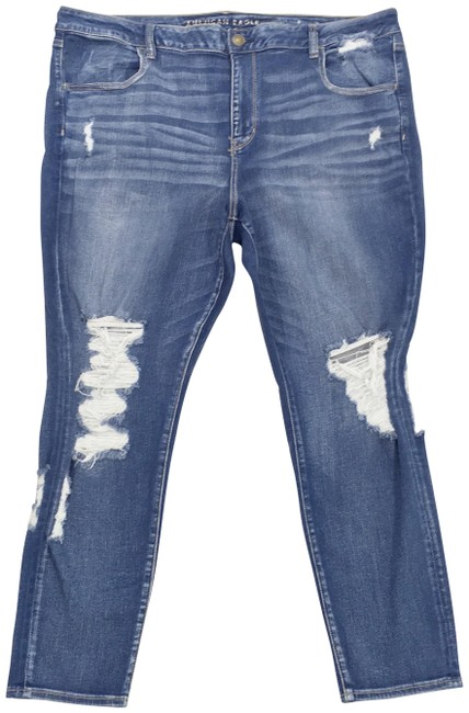 Item - Blue Next Level Stretch Distressed Ripped Jeggings Size 24 (Plus 2x)
