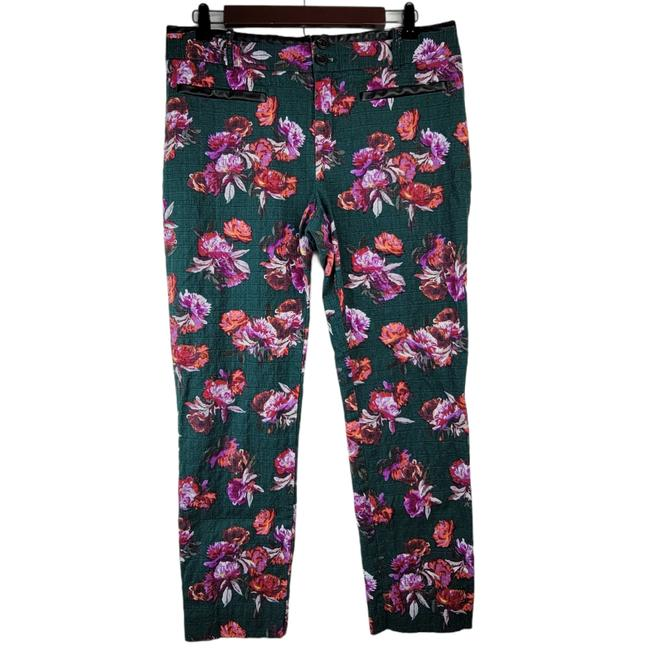 Item - Green Floral Charlie Ankle Pants Size 10 (M, 31)