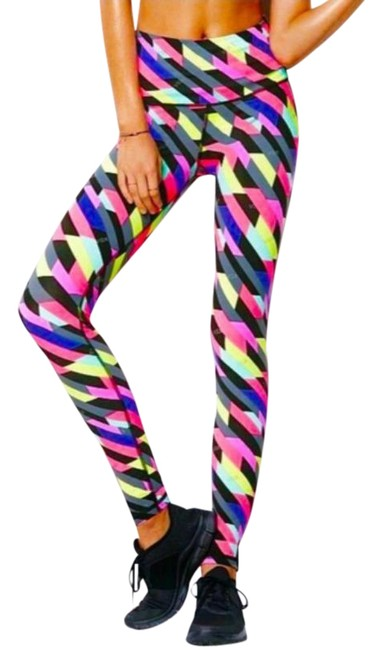 Item - Pink Green Knock Out Leggings Size 0 (XS, 25)
