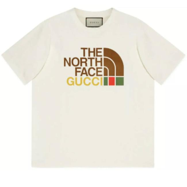 Item - Beige New X The North Face X-large Printed Logo Cotton T-shirt Tee Shirt Size 18 (XL, Plus 0x)