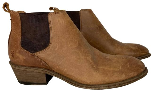 Item - Tan New Brown Distressed Leather Ankle Boots/Booties Size US 6.5 Regular (M, B)