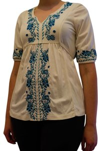 a.n.a. a new approach Peasant Top white/blue