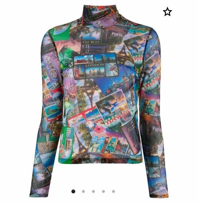 Item - Multicolored Collage Print Blouse Size 4 (S)