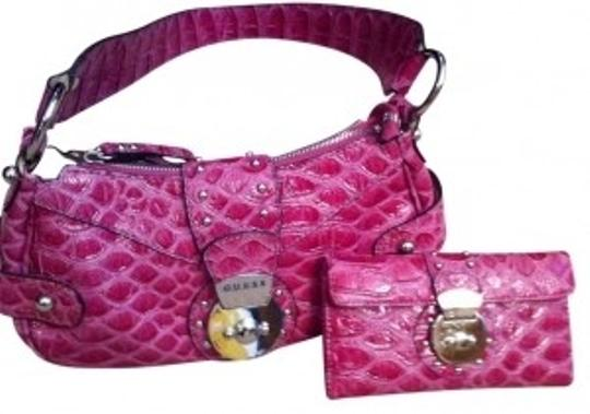 Preload https://item4.tradesy.com/images/guess-and-matching-wallet-fuschia-pink-faux-crocodile-hobo-bag-29398-0-0.jpg?width=440&height=440