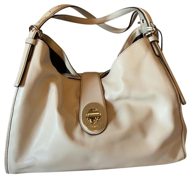 Item - Carlyle Madison Milk Soft Ivory Smooth Leather with Gold Hardware Shoulder Bag