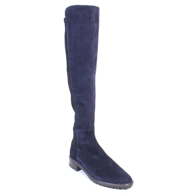 Item - Navy Blue / Brown Highland Knee High Suede Boots/Booties Size US 7.5 Regular (M, B)