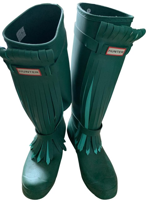 Item - Forest Green Full Knee Boots/Booties Size US 8 Regular (M, B)