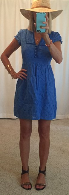 Fossil short dress royal blue on Tradesy