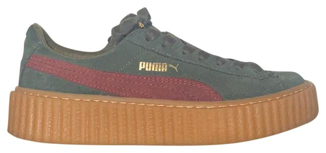 Item - Green-bordeaux Suede Creepers Sneakers Size US 6 Regular (M, B)