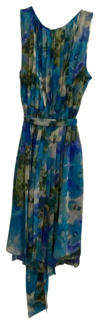 Item - Turquoise Cream Grey Lavender-multi Unknown Mid-length Night Out Dress Size 16 (XL, Plus 0x)