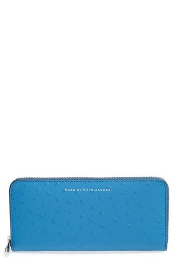 Marc by Marc Jacobs Marc By Marc Jacobs Blue Slim Continental Wallet