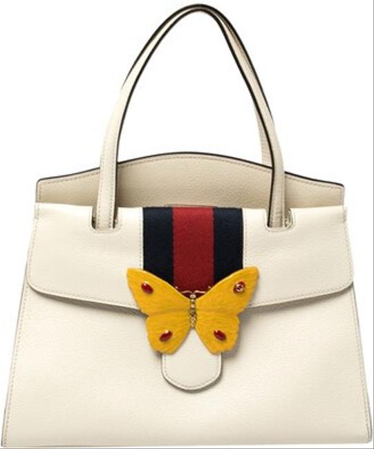 Item - Top Handle Butterfly Totem Medium S 505344 9674 Ivory Leather Cross Body Bag