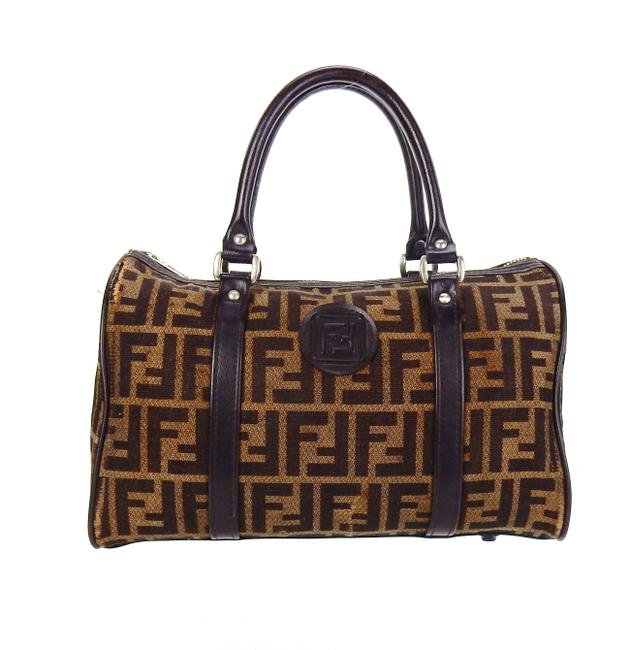 Item - Vintage Boston Top Handle Brown Zucca Canvas Leather Tote