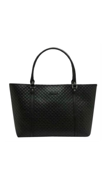 Item - Gg Black Leather Tote