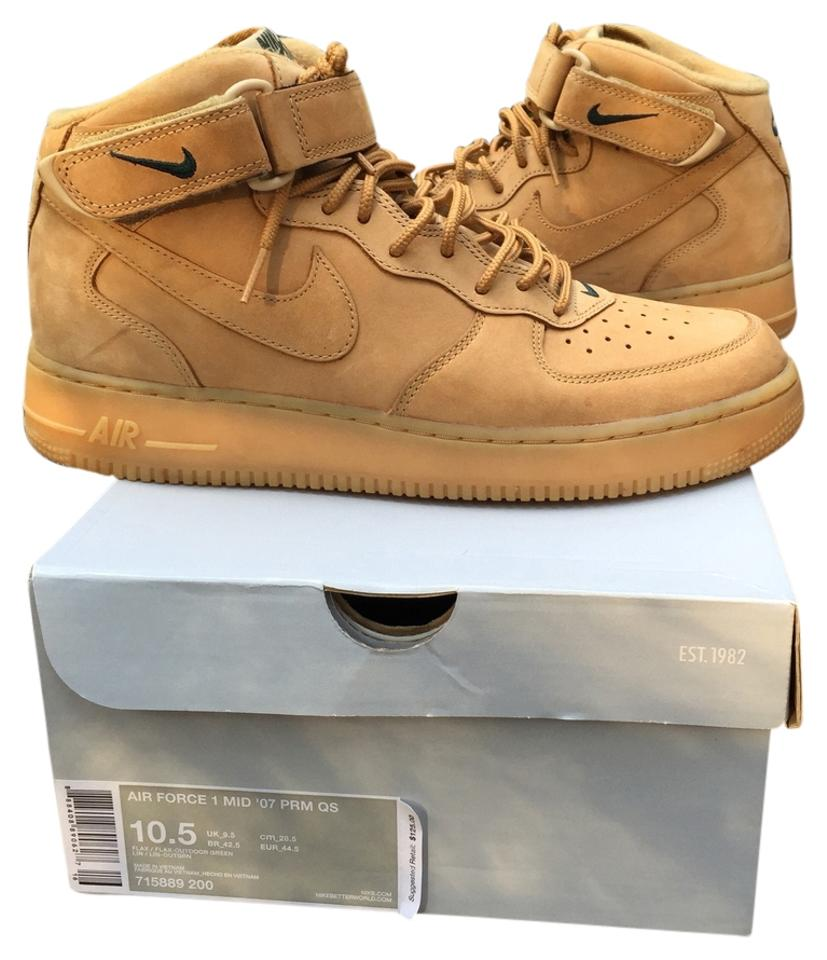 Mid 10 Tan Size Retail Men's 1 Us Nike Flax RegularmB50Off 5 Sneakers Air Force knPO0w