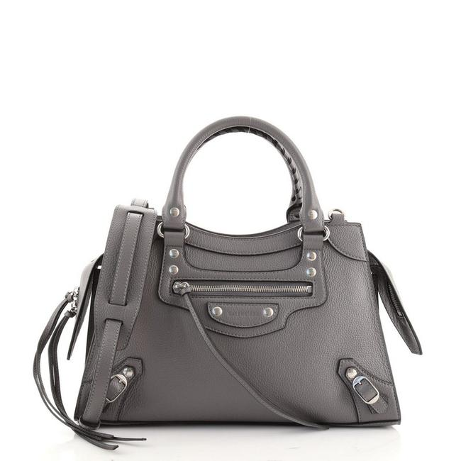 Item - Neo Classic City Gray Leather Tote
