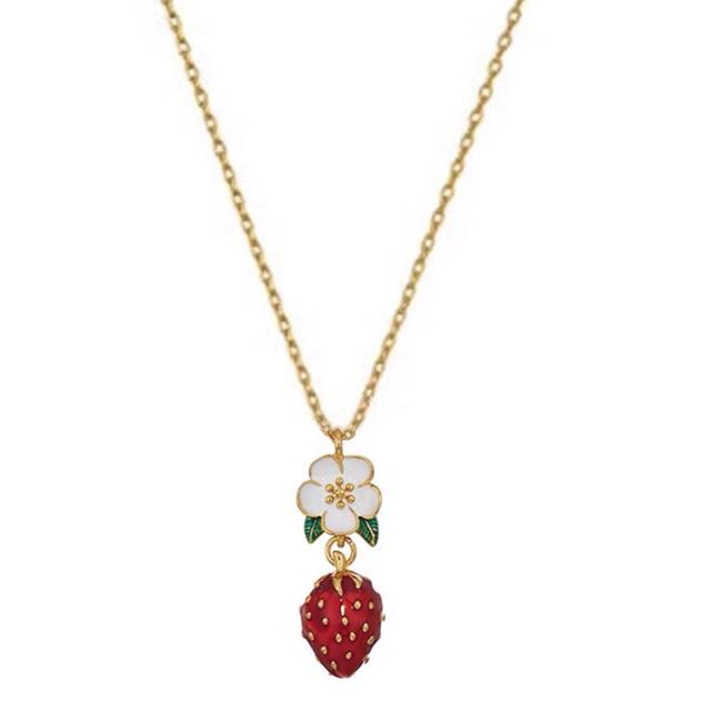 Item - Picnic Perfect Strawberry Necklace