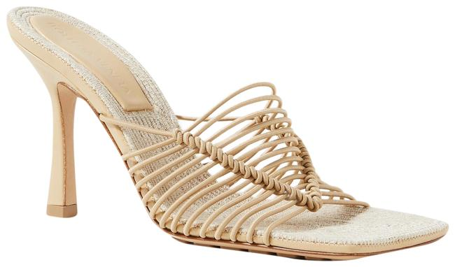 Item - Sand Knotted Cord and Raffia Mules/Slides Size EU 39.5 (Approx. US 9.5) Regular (M, B)