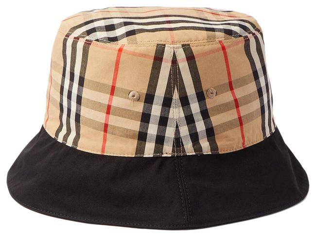 Item - Black Bucket Reversible Printed Checked Cotton-twill Size Large Hat