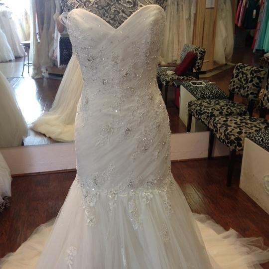 Sophia Tolli French Beige Formal Wedding Dress Size 8 (M) Image 0