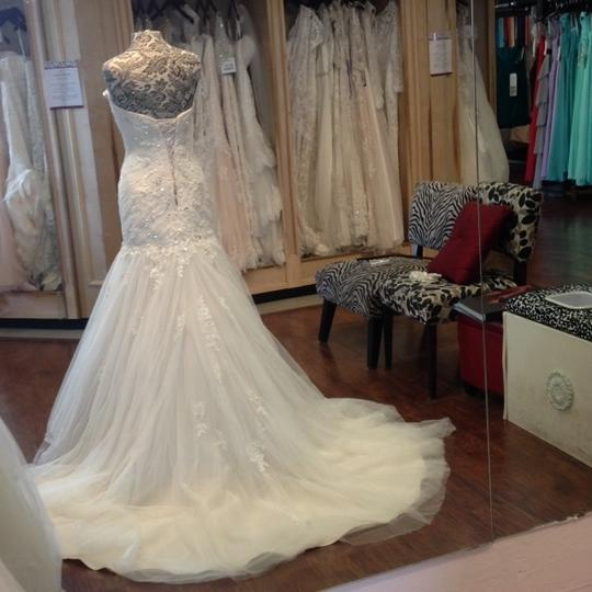 Sophia Tolli French Beige Formal Wedding Dress Size 8 (M) Image 5