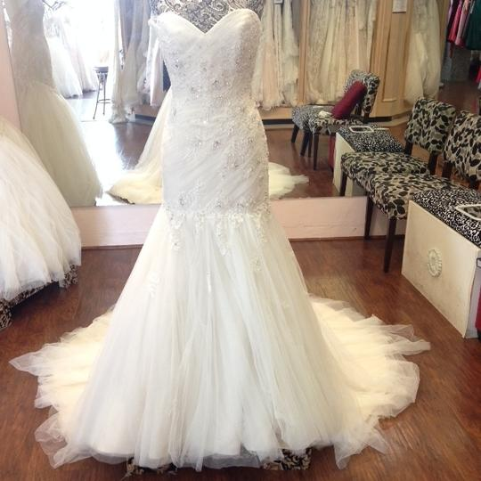 Sophia Tolli French Beige Formal Wedding Dress Size 8 (M) Image 7
