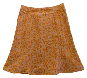 Gap A-line Floral Skirt peach, orange