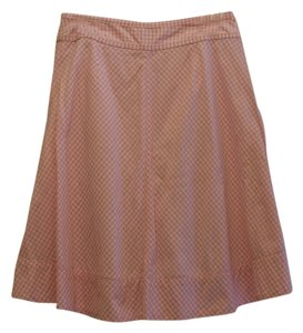 Cato Retro A-line Skirt Pink/White