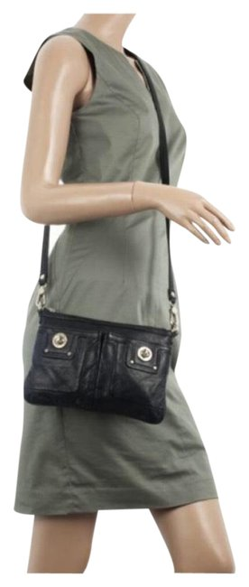 Item - Totally Turnlock Percy Black Leather Cross Body Bag