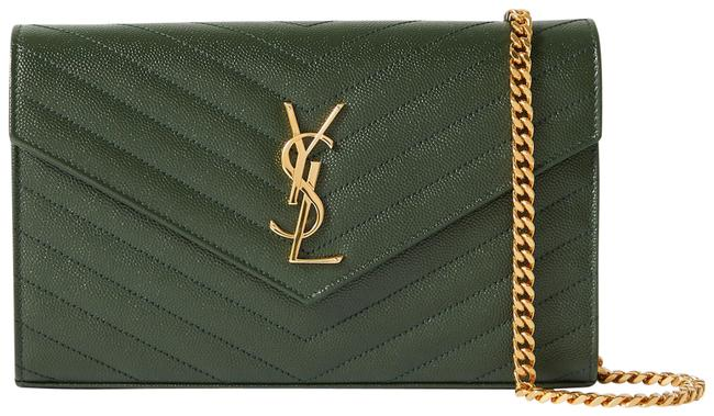 Item - Monogramme Mini Green Quilted Textured-leather Shoulder Bag
