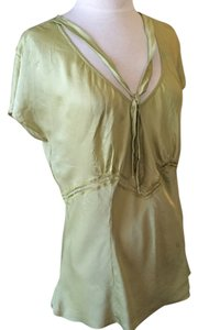 Express Chartreuse Silk Side Zipper Zipper Top Green