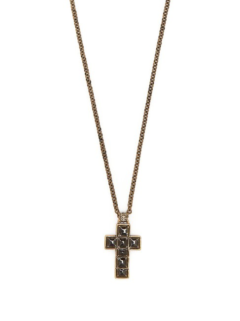 Item - Black New Cross Long Chain Necklace