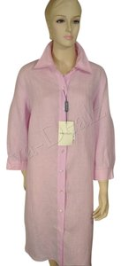 Marina Rinaldi short dress Pink Linen Shirt on Tradesy