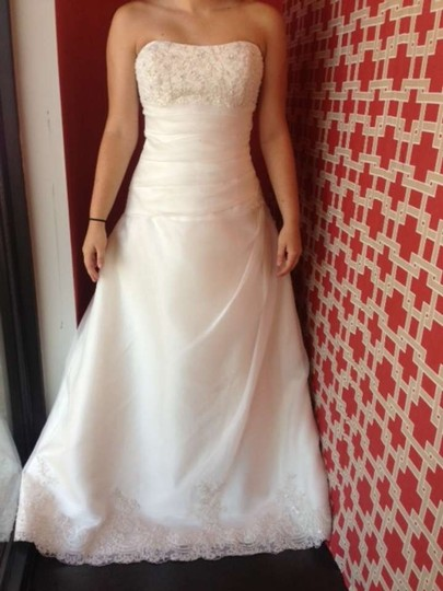 Mori Lee Ivory Organza/ Lace 2182 Wedding Dress Size 18 (XL, Plus 0x)