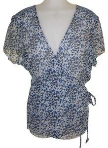 Semantiks Top Blue with pattern