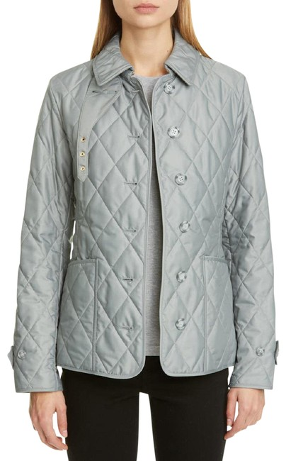 Item - Grey Women Fernleigh Thermoregulated Check Diamond Quilted Jacket Size 12 (L)