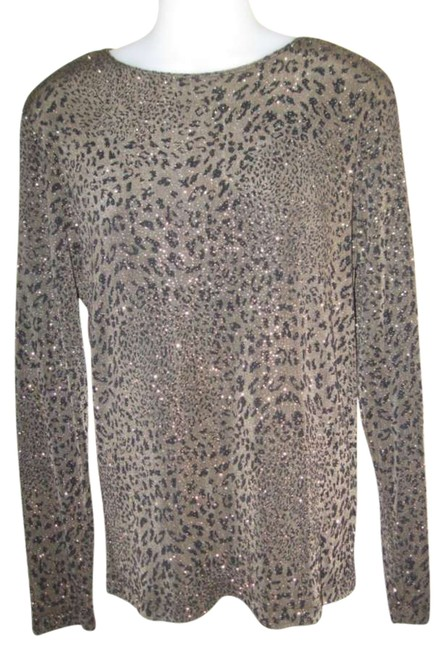 Chico's Top Brown & Black Leopard print
