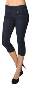 LOLA JEANS Stretch Capri Jogger Legging Capri/Cropped Denim-Medium Wash
