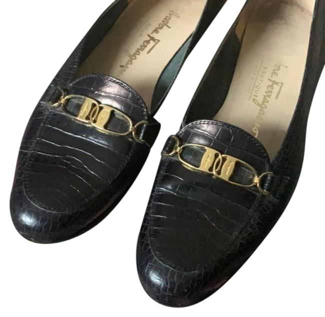 Item - Gold Blue Navy Loafers Flats Size US 8 Narrow (Aa, N)
